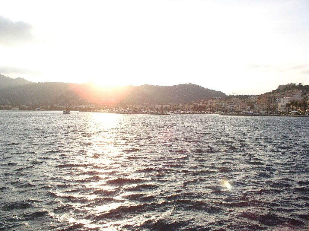 The Frejus coast at sunset