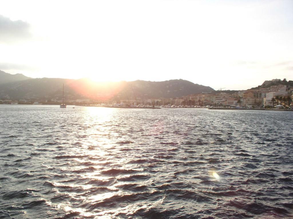 The Frejus coast at sunset