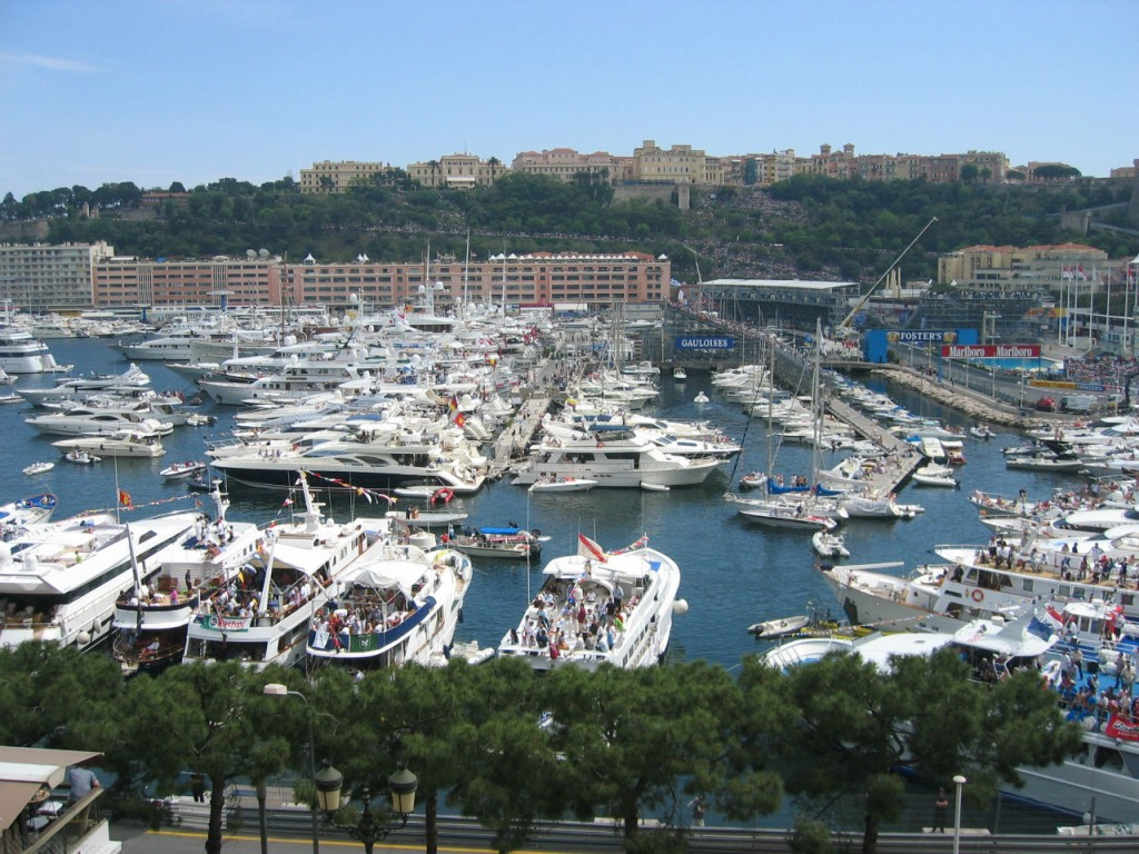 Visit Monaco and have party on a yacht at night